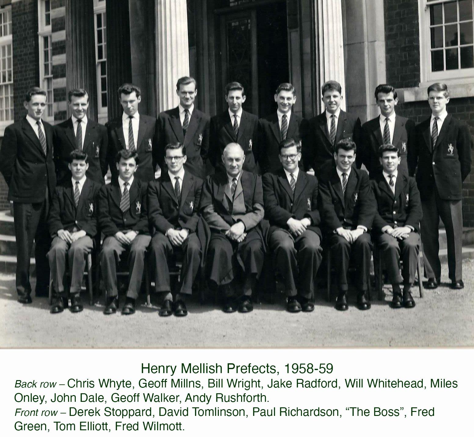 Mellish prefects 1958-9
